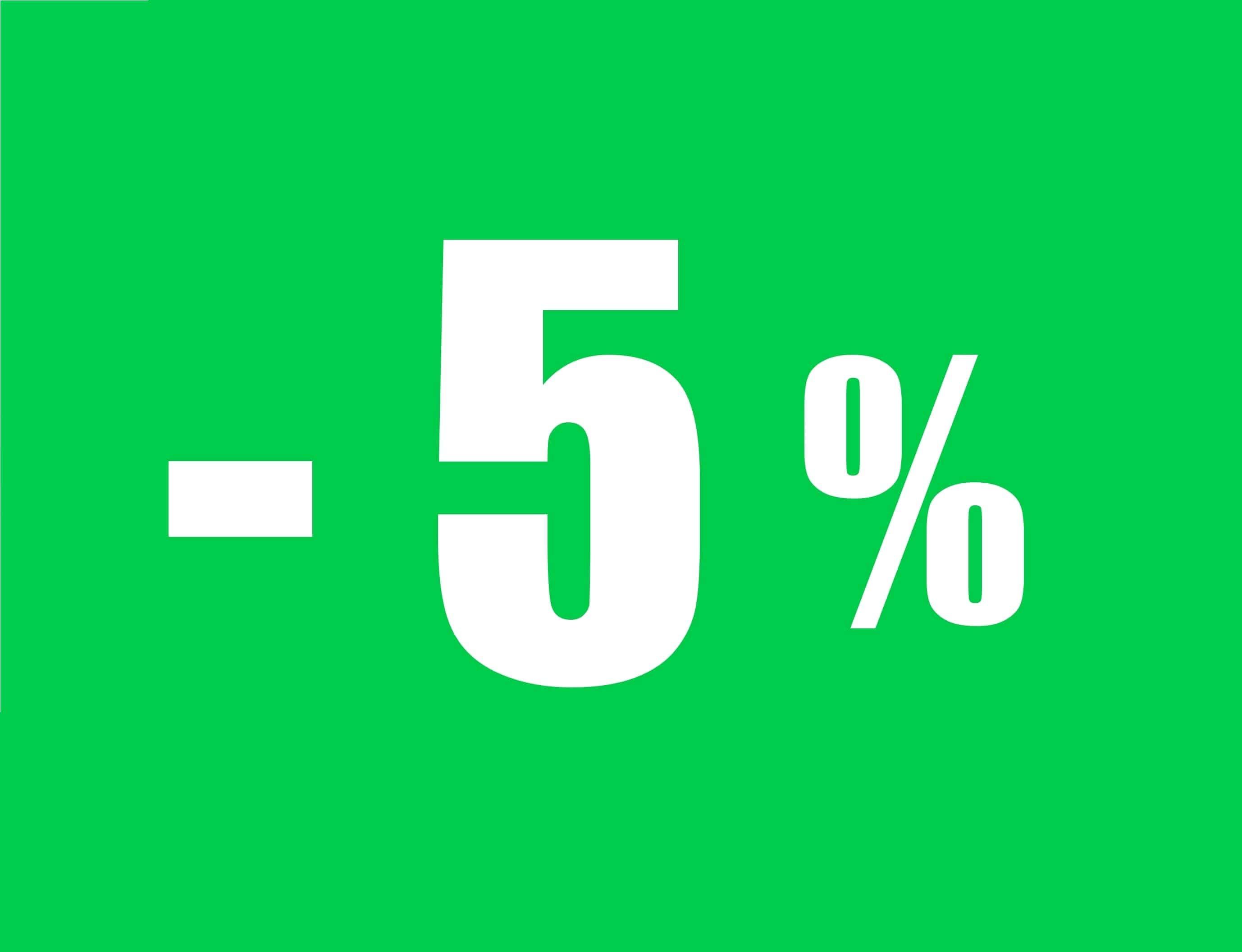 5% di sconto